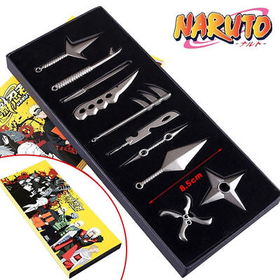 HOT Anime Naruto: Set of 10 pcs Uzumaki+Naruto+Hatake+Kakashi Weapons Blade