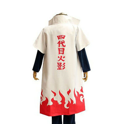 HOT Anime NARUTO Fourth Hokage Namikaze Minato Cosplay Costumes Uniform / Cloak