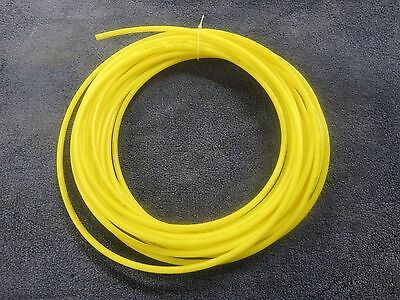 """1/4"""" Pneumatic Polyethylene Tubing for Push to Connect Fittings Yellow PE0417-Y"""