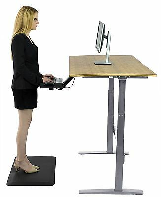 Electric Standing Desk - Height adjustable sit stand office table bamboo desktop