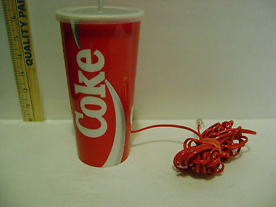 Very Rare Coke Coca-Cola Plastic Cup Push Button Landline Telephone