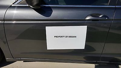 "12""x18"" Blank Car Magnet Sign 30 mil (2 SHEETS)."