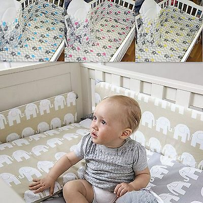 3 Piece Lovely Baby Bedding Set Nursery Cot Bed 120x90cm 100% Cotton-with Bumper