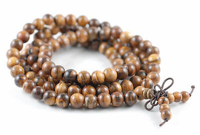 6mm 108PCS Natural Matte Ebony Black Sandalwood Mala Beads Round 80005379-400