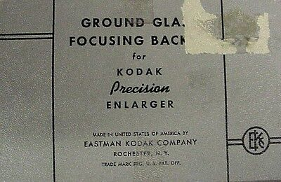 Ground Glass Focusing Back FOR Kodak Precision Enlarger | NEW | Boxed |
