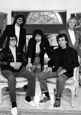 Traveling Wilburys Legends Awesome BW POSTER