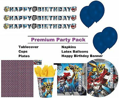 Transformers 8-48 Guest Premium Party Pack - Tableware | Banner | Balloons