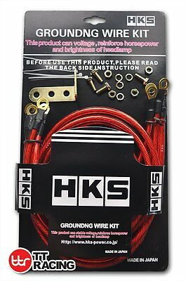 JDM HKS STYLE EARTH Grounding Wire Strap System Performance Kit Red
