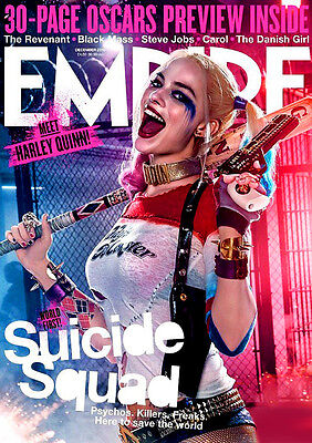 "Margot Robbie - 2.5"" x 3.5"" MAGNET Photograph #1 Suicide Squad Harley Quinn Wolf"