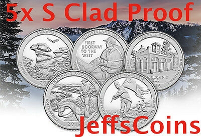 2016 S Mint Proof Set ATB 5 Clad Quarters No Box or COA Shawnee-Ft Moultrie 16ap