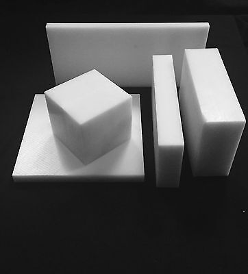 """1"""" White/Natural Delrin Acetal Plastic Sheet - Priced/Square Foot- Cut to Size!"""