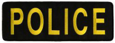 Chicago Police Gold Black Shirt Jacket Uniform Back Patch Badge Emblem 11X4