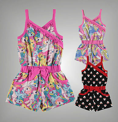 Infant Girls Branded Character Printed 2 Pockets Playsuit Jumpsuit Size Age 2-13