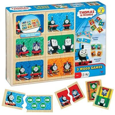 Wooden Thomas the Tank Engine Dominoes Character & Number Match Puzzle Pairs