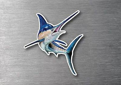 Marlin sticker quality long life water & fade proof 7 year vinyl boat fishing