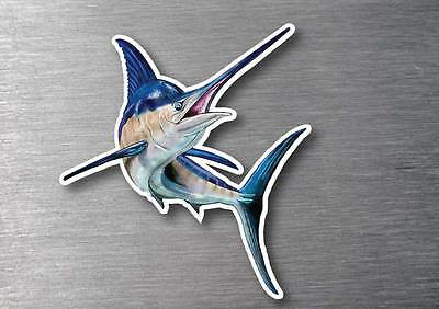 Marlin large sticker quality  water & fade proof 7 year vinyl boat fishing