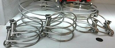 Land Rover Series 2 Petrol Engine Radiator Hose Stainless Double Wire Clamp Set