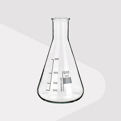 Borosilicate Glass Conical Flask, Narrow Neck, 100ml (Pack of 2)