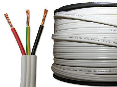 New Cablemaster Electrical Power Cable 2.5mm Twin and Earth 100 metres TPS 100m