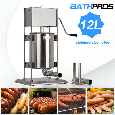 Filler Steel Vertical Sausage Stuffer Meat Press Speed Stainless 12L Two Speed
