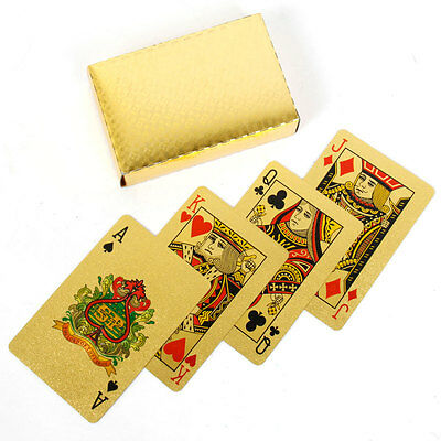 4 Decks of 24 Karat 99.9% gold plated Playing Cards, 54 Cards and COA, X4 New