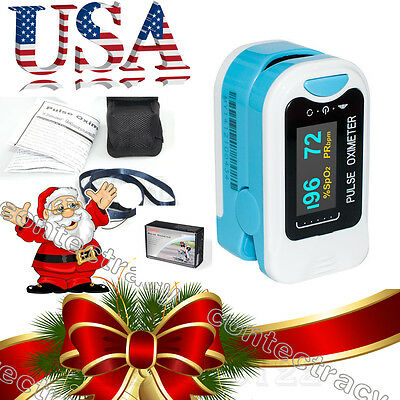FDA Fingertip Pulse Oximeter Finger Blood Oxygen SpO2 PR Heart Rate Monitor,USA