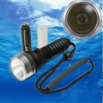 Underwater Dive Diving T6 LED Flashlight Torch Light Waterproof