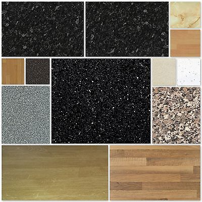 Laminate Kitchen Work Surface Worktop 1m 1.5m 2m 3m in Various Colours & Sizes