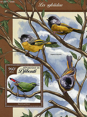 Djibouti 2016 MNH Songbirds 1v S/S  Birds Sylvidae Old World Warblers Myzornis