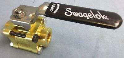 "Swagelok B-63Tf6 Brass 60 Series Ball Valve, 3/8""Fnpt - 1500 Psi - New Surplus"