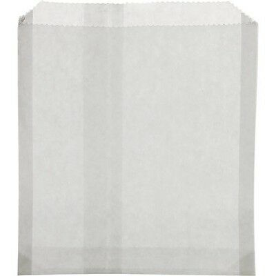 """2000 RESTAURANT COMMERCIAL DRY WAX SANDWICH BAGS 6""""x 3/4 X 6"""" 1/2 WHITE BAGS"""