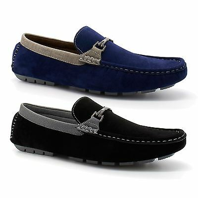 Mens New Faux Suede Leather Moccasin Loafers Driving Casual Slip On Shoes 6-11