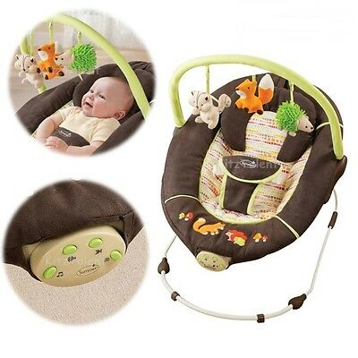 Baby Bed Chair Musical Bouncer Large Seat Cradle Infant Crib Bassinet Napping