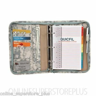 3- Ring Binder Camouflage Planner Organizer Folder with Time Management Pages