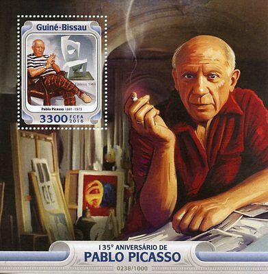 Guinea-Bissau 2016 MNH Pablo Picasso 135th Anniv 1v S/S Art Paintings Chair