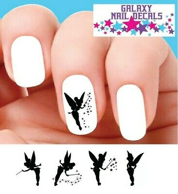 Waterslide Nail Decals - Set of 20 Tinkerbell Fairy Dust Silhouette Assorted