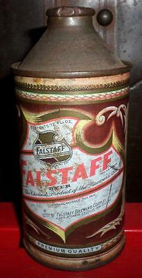 Vintage Early 1950's Falstaff Beer Cone Top Can with no Lid Fair R3