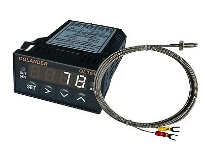 24V DC 1/32DIN Digital PID Temperature Controller, White with K thermocouple