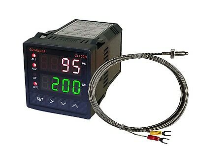 24V DC Dual Display Digital PID F/C Temperature Controller with K Thermocouple