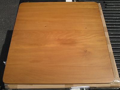 """Solid Wood Square Table Top 24"""" Commercial Grade - Light Medium Stain Finish"""