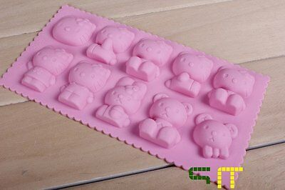Hello kitty Silicone Cake Mould Baking Chocolate Ice Cube Tray Pan Ice lattice