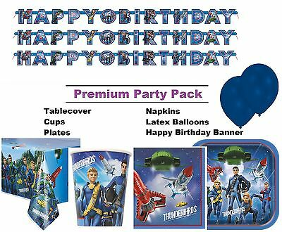 Thunderbirds 8-48 Guest Premium Party Pack - Tableware | Banner | Balloons