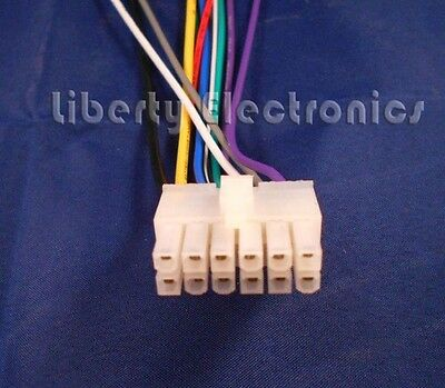DUAL AM/FM/CD Stereo 12 pin Wire Harness plug XD1222 XD1215 XD6150 on