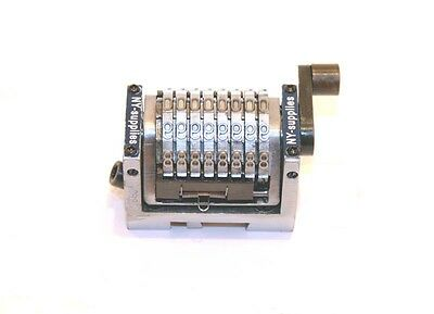 "8 Digit 3/16"" Gothic Rotary Straight Numbering Machine - Hamada Ryobi Multilith."