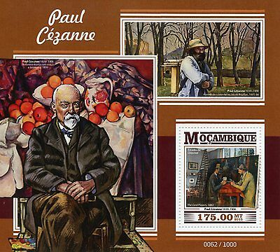 Mozambique 2015 MNH Paul Cezanne 1v S/S Art Paintings Card Players