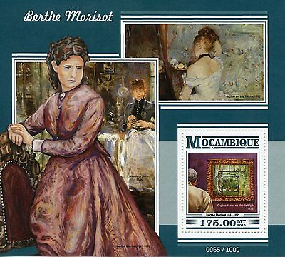 Mozambique 2015 MNH Berthe Morisot 1v S/S Eugene Manet Isle of Wight