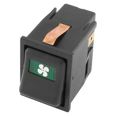 Car Electrical Off-On-On FAN Illuminated Rocker/Dashboard Switch - Mini