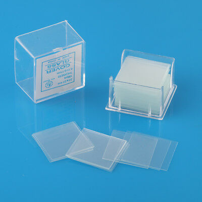 100PCS Blank Clear Glass Micro Cover Microscope Slides Square Covers 22mmx22mm