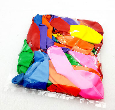 """lot of 50 pcs 12"""" latex balloons helium quality MIXED COLOURS party favors toy"""