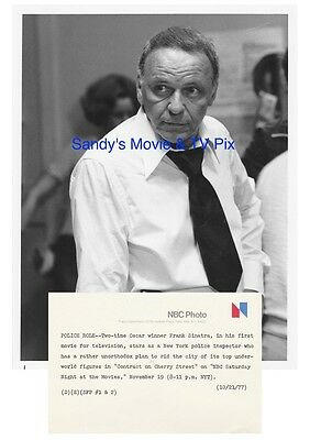 FRANK SINATRA Terrific Original TV Photo CONTRACT ON CHERRY STREET